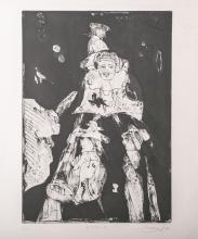 """Morell, (Jean) Pit (*1939 in Kassel), """"Eiszeit"""" (1969), Lithographie, rechts unten signiert und dati"""