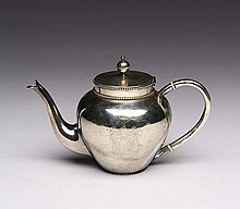 DUTCH SILVER CRESTED TEAPOT