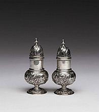 PAIR OF DUTCH SILVER CASTERS