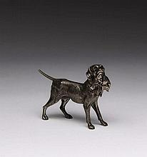 CONTINENTAL CAST MODEL OF A HUNTING DOG