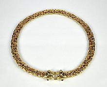 FLAT LINK YELLOW GOLD NECKLACE
