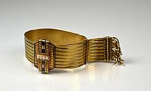 ANTIQUE GOLD & ENAMEL BRACELET