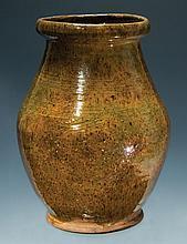 19th c. ovoid Redware jar
