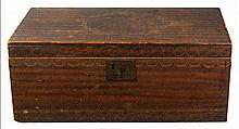 19th c. decorated & grained trunk