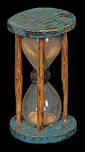 18th/19th c. NE pine hourglass