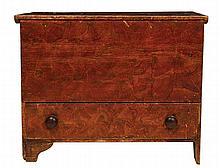 19th c. single drawer blanket chest