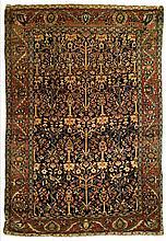 Antique Sarouk garden rug, 4' x 7' 8