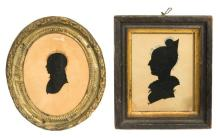 Two silhouettes - gentleman and lady