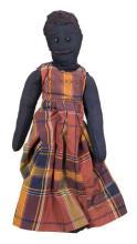 Early 20th c. black doll, 18 1/2