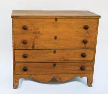 Blanket chest with 2 drawers
