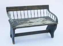 Blue/green buggy bench