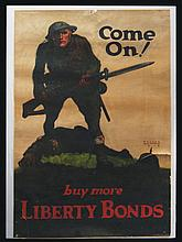 Two 1918 Liberty Bonds WWI posters