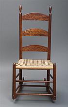 Rocking chair, no arms, minor repairs
