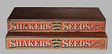 Two seed boxes, original red