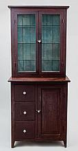Shaker apothecary two-piece cupboard