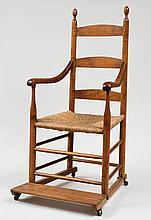 Invalid chair, three-slat, w/wheels