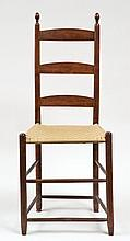 Tall 3-slat chair, tilters, figured walnut