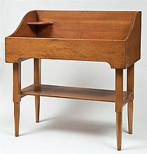 Wash stand, square to round legs