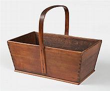 Kindling carrier, hoop handle, red/brown