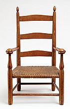 Child's armchair, #0, ochre alligator finish