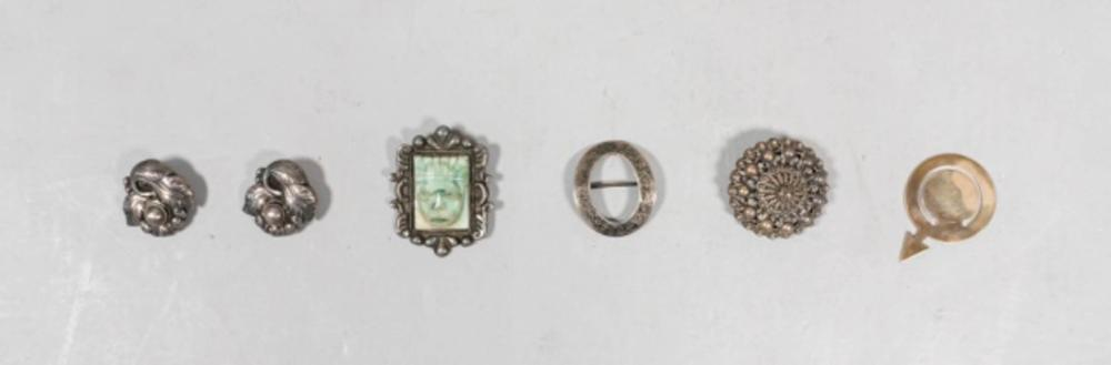 Grouping of 6 Silver Accessories