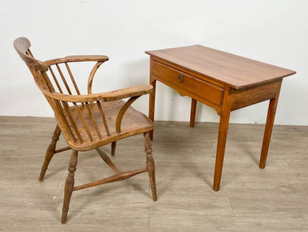 Primitive Desk and Chair Set