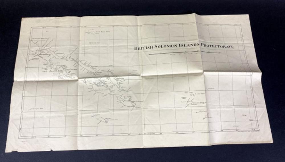 1932 Map of British Solomon Islands