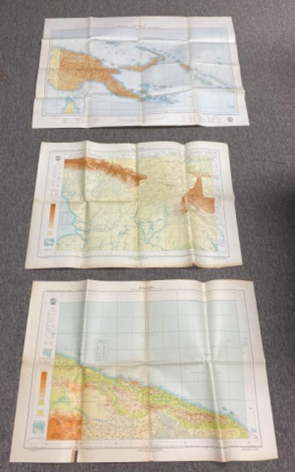 3 Maps of New Guinea in 1961, 1962, and 1964