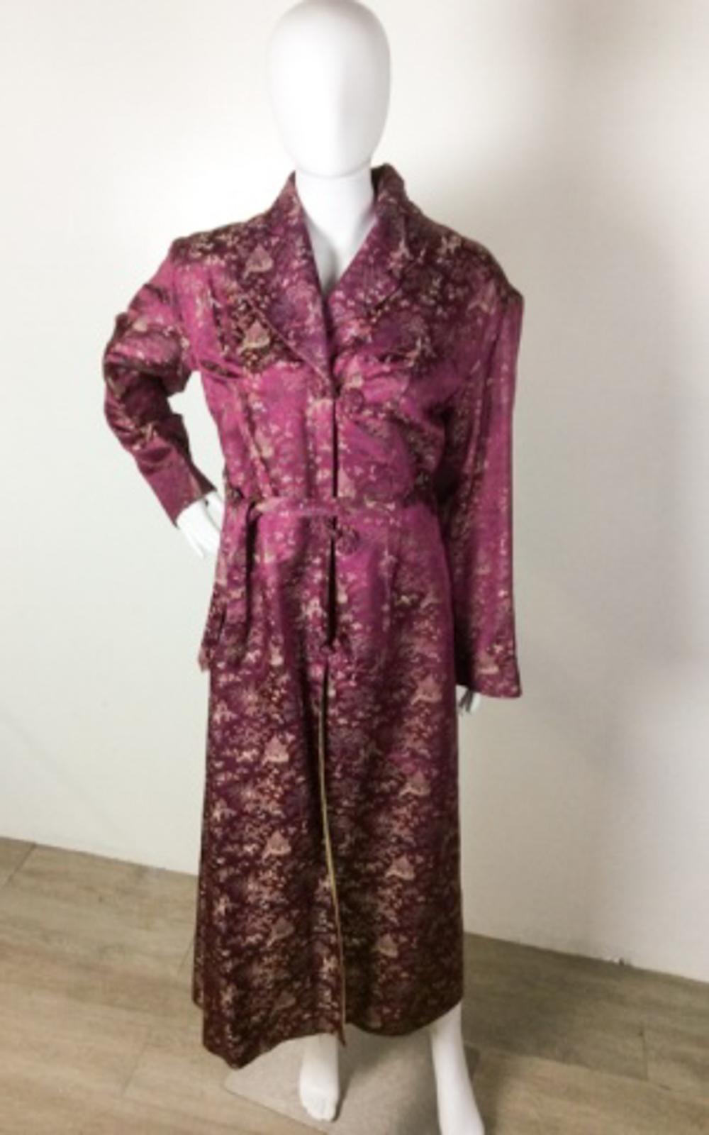 Vintage Custom Creation Baroque Violet Kimono