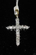 10kt Yellow Gold 0.20ctw Diamond Cross PD W790
