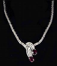 18K WG 7cts Ruby 8.38cts Diamond NK WL15001