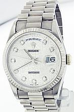 Rolex 18K White Gold 36mm Day-Date 18239 WA42003