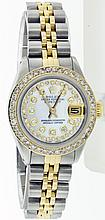 Rolex Stainless Steel and Yellow Gold 26mm Lady Datejust WA10503