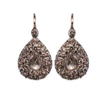 1.48ctw Diamond Silver&Gold Earrings W6694