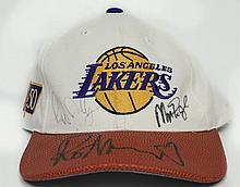 Signed LA Lakers Hat W326