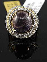 15.04ct Ruby 1.05ct Sapphire 925 Silver Ring K24J2