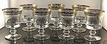 Vintage Murano Medici 24K Gold Crystal Cordials W330