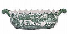 Green Vintage China Bowl W46
