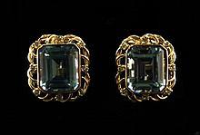 14kt Gold 14.07ctw Topaz 0.32ctw Diamond Earrings W2390