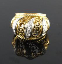 18kt Yellow Gold 0.45ctw Diamond Ring WG4502