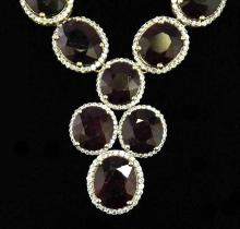 307.02ct Ruby & Sapphire Silver Necklace K52J99