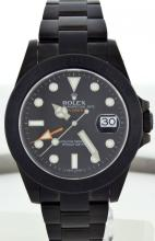 Rolex SS w/ Black DLC Coating Mens Explorer WA27903