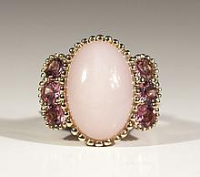 14kt YG 9.44ctw Pink Opal & Tourmaline RN WCJ2325-2
