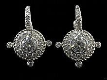 Judith Ripka Sterling Silver Earrings W225
