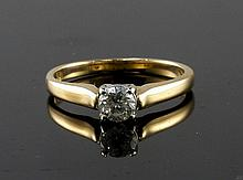 14kt Yellow Gold 0.38ct Diamond Solitaire Ring W2002