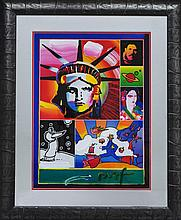 view peter max art prices and auction results. Black Bedroom Furniture Sets. Home Design Ideas