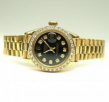 ROLEX Ladies 18k GoldPresidential Timepiece W20250