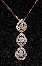 18kt Rose Gold 0.77ct Diamond Pendant W11745