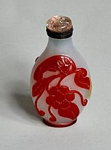 Chinese Cameo Glass Snuff Bottle