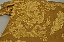 Gold Imperial Patterned Chinese Silk